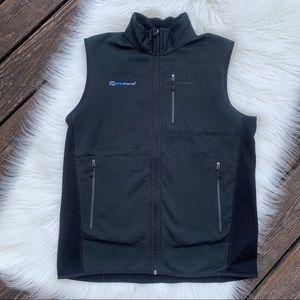 Patagonia Men's Black & Dark Green Vest Sz XL